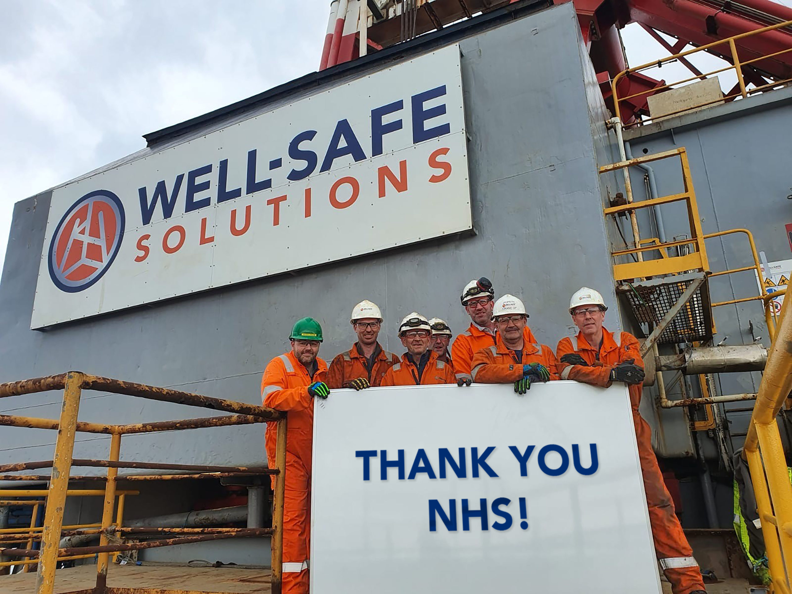 Well-safe Solutions staff have backed NHS Grampian through its virtual challenge