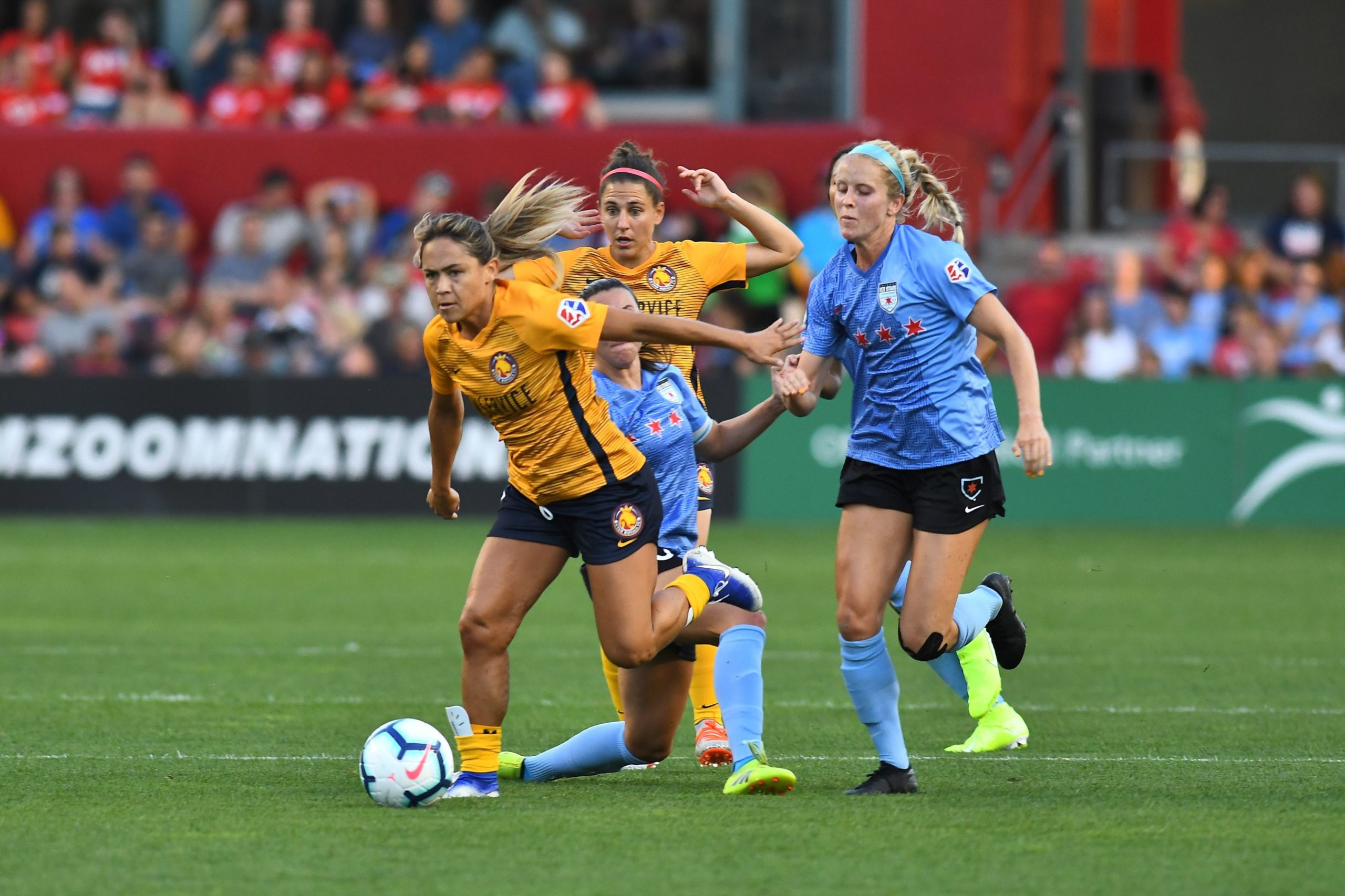 An NWSL match between Chicago Red Stars and Utah Royals FC at SeatGeek Stadium in Bridgeview, Illinois.