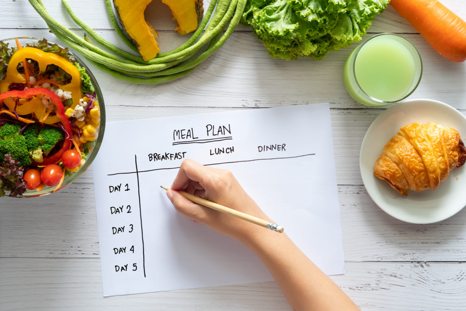 Having a weekly plan can help reduce food waste