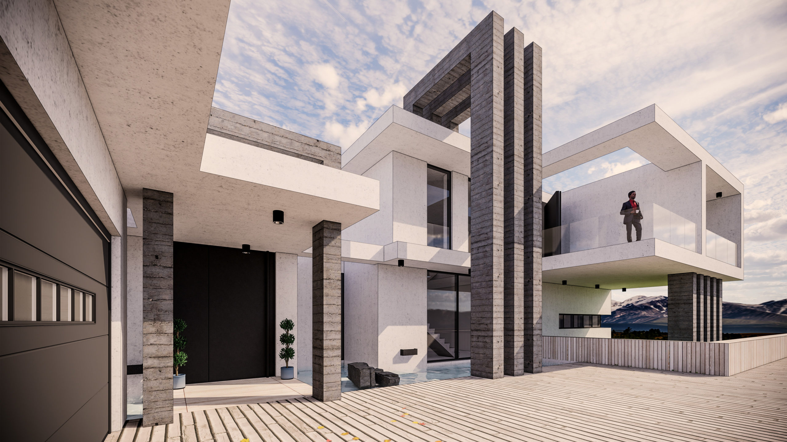 Callum Grochla's winning house design in the 13 to 17-year-old category