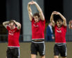 Aberdeen's Jonny Hayes, Ash Taylor and Niall McGinn, picture during their first spells, have all returned to the club.