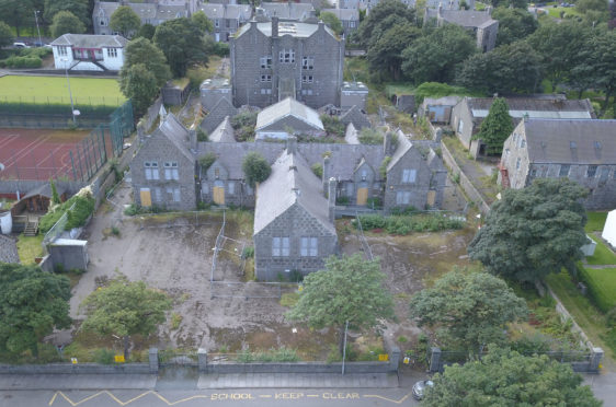 The former Victoria Road School site in Torry, which is to be turned into housing and a community hub