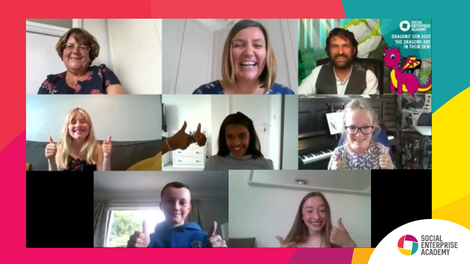 The 2020 Dragons Den winners on Zoom