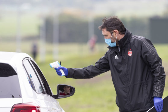 Aberdeen players returned to training last month