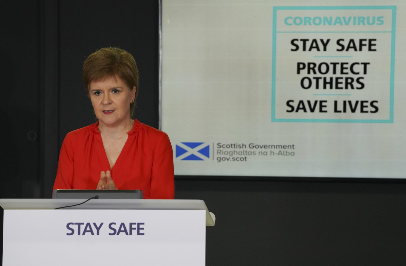 Nicola Sturgeon at her daily coronavirus briefing.