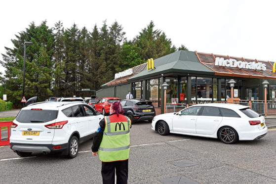 Queues formed at McDonald's this week