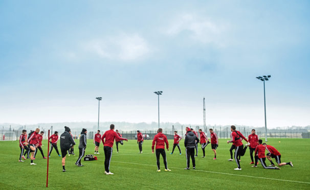 All-in training sessions are a while away.