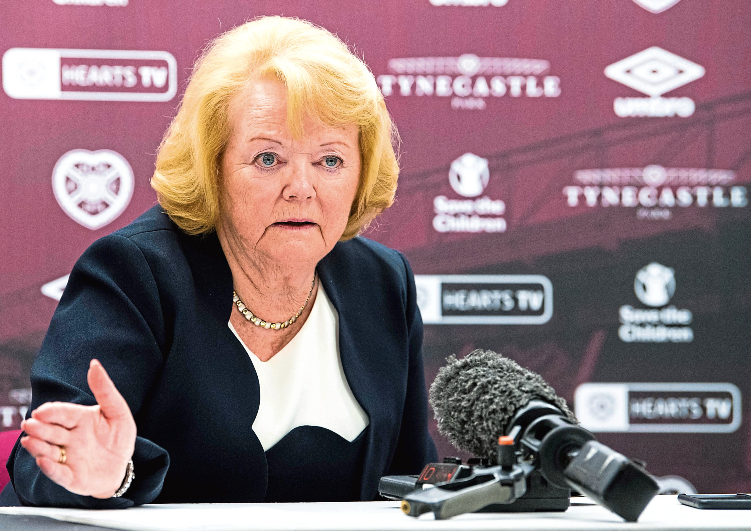 Hearts chair Ann Budge is determined to fight against her club's relegation.