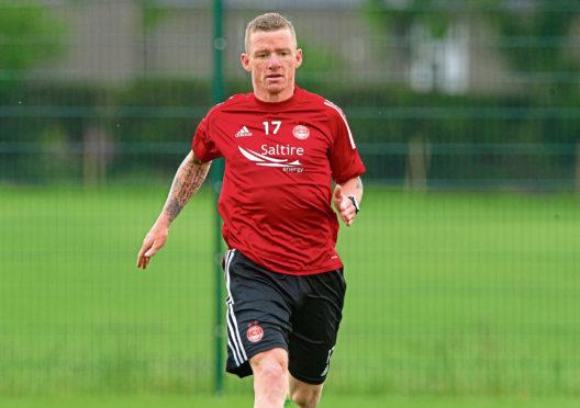 Jonny Hayes in training with Aberdeen