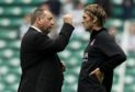 Lee Miller with then-Aberdeen boss Jimmy Calderwood.