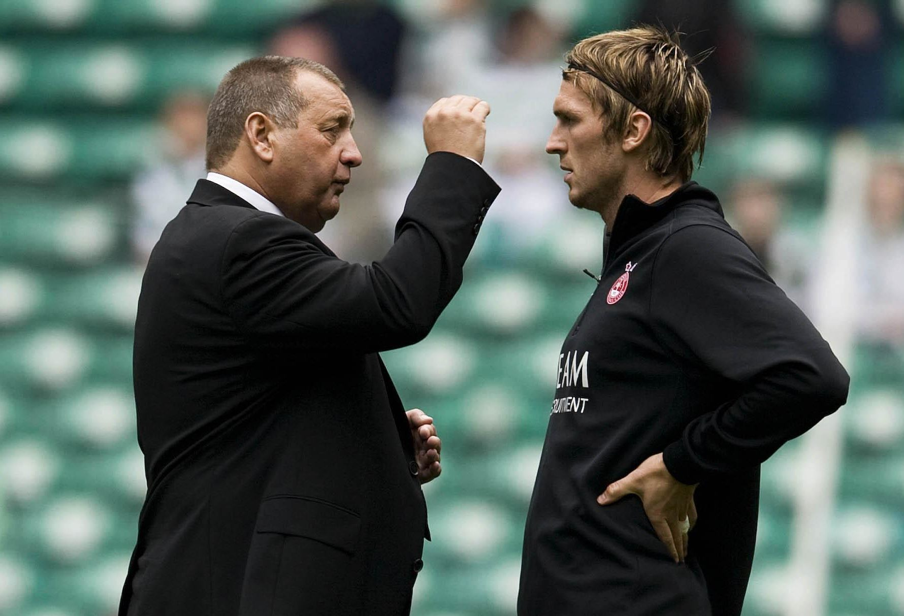 Lee Miller with then-Aberdeen boss Jimmy Calderwood.