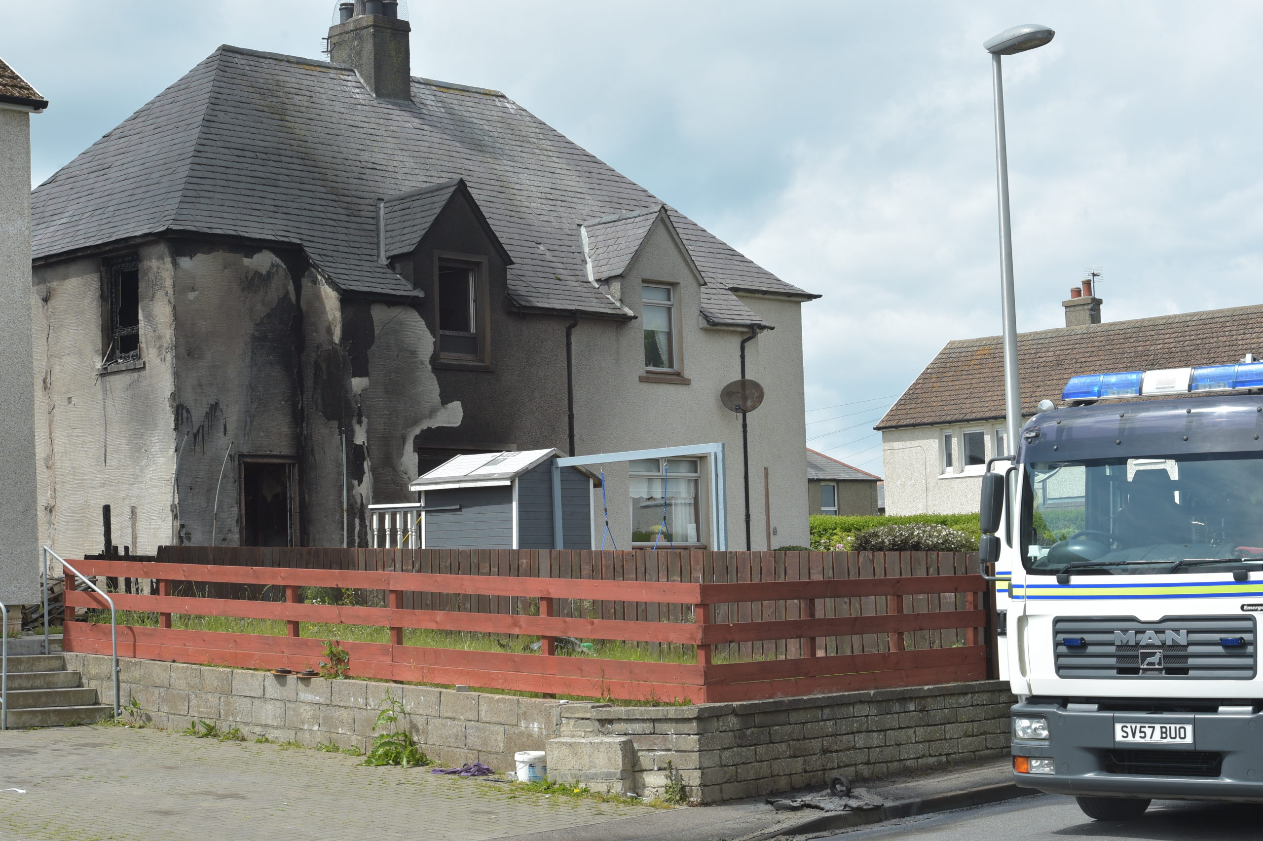 The fire happened at a property in Seafield Crescent, Banff