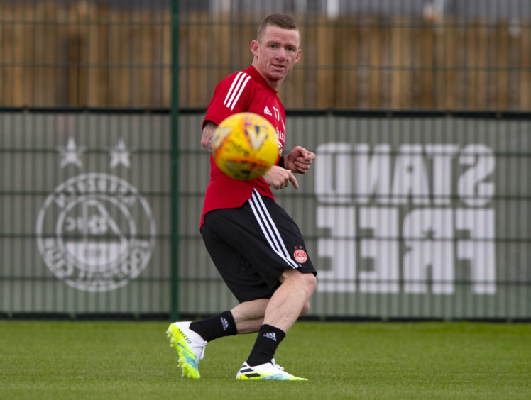 Hayes returned to the Dons from Celtic last month