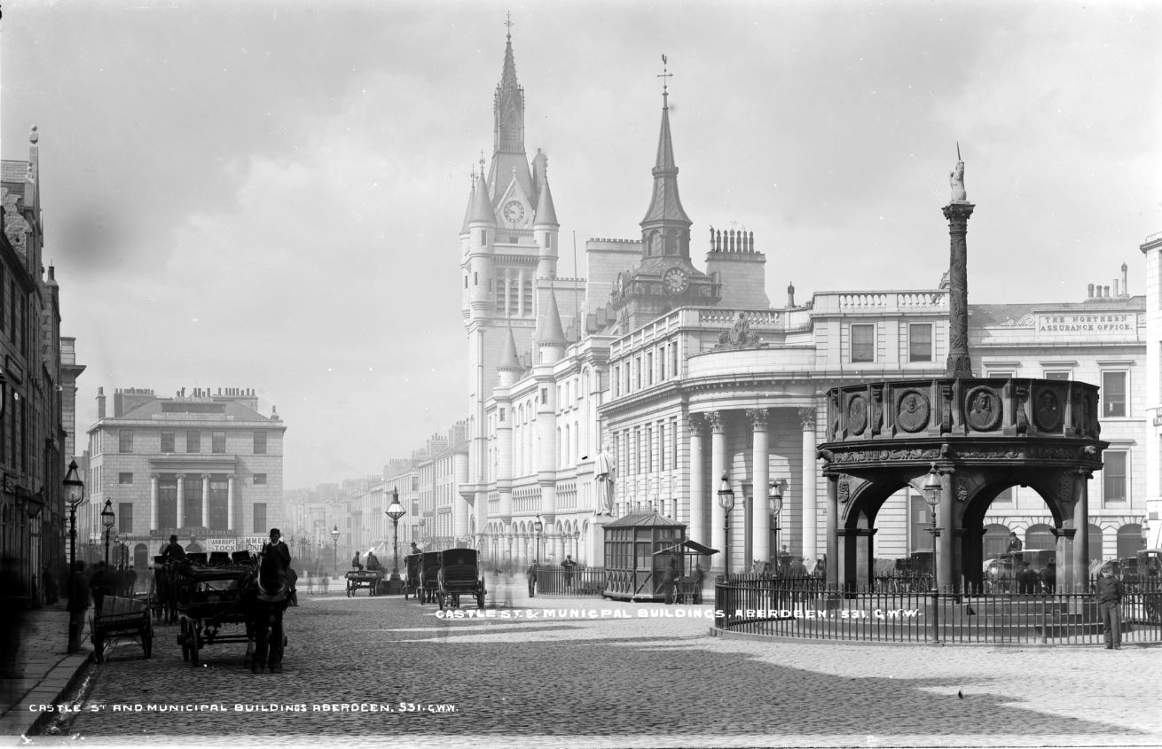 George Washington Wilson's stunning imaged of Aberdeen's Castlegate in the Victorian era