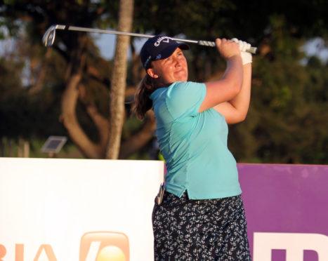 Gemma Dryburgh in action.
