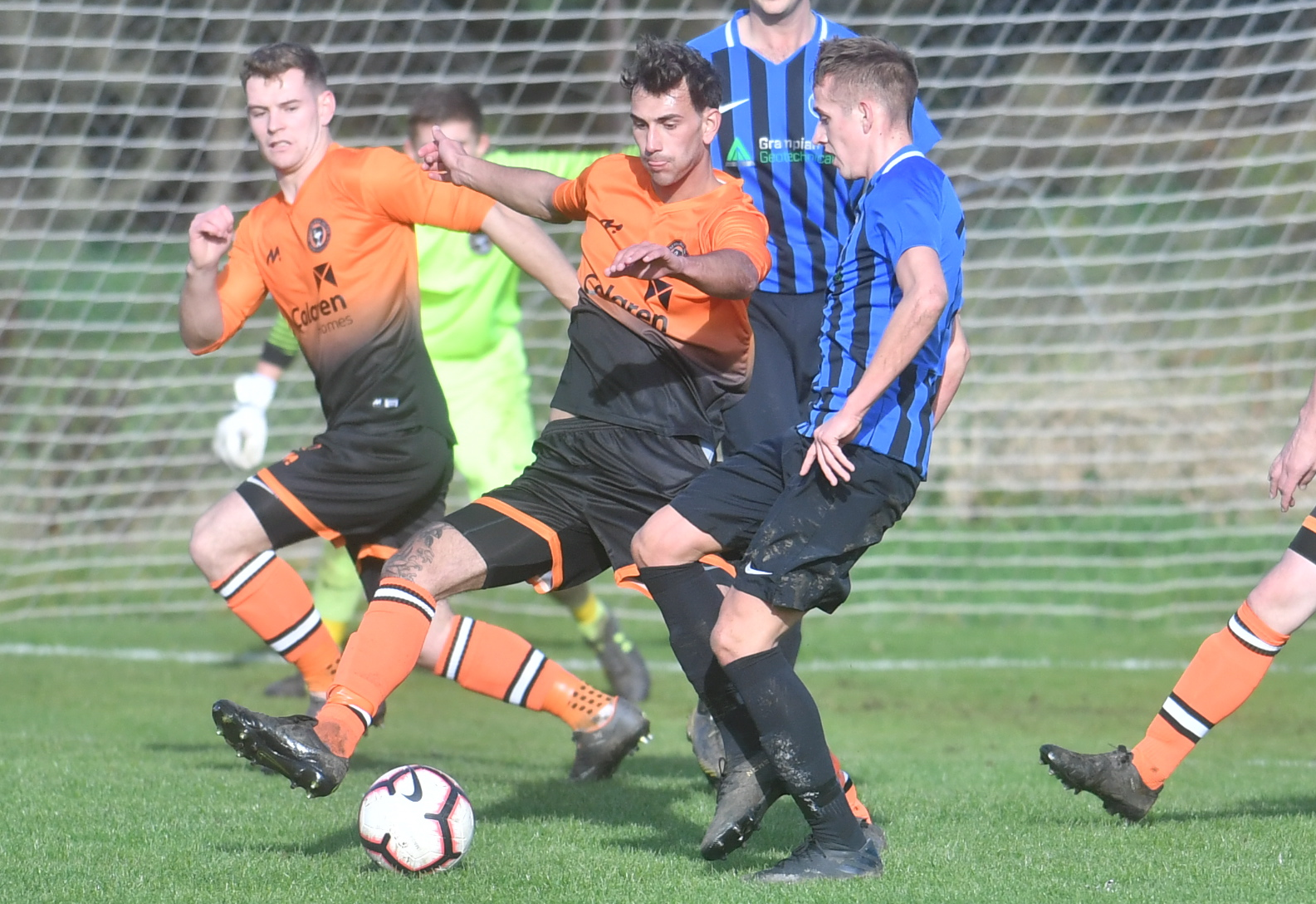 Fraserburgh United in action against Hermes. Picture by Chris Sumner