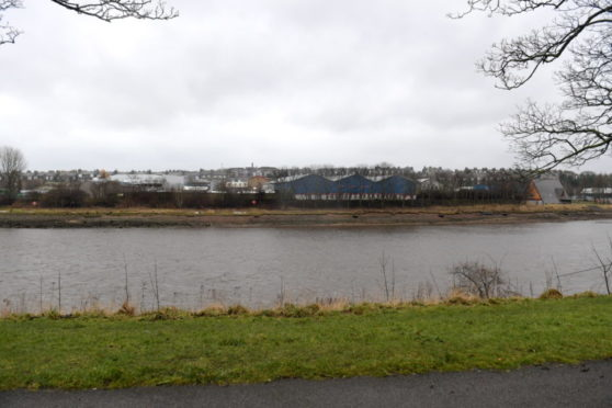 """Land on the South side of the River Dee between Victoria Bridge and Aberdeen University Boat Club, taken from Photo taken from North Esplanade West. Councillors have said the development site deserves """"something special"""". Picture by Kath Flannery."""