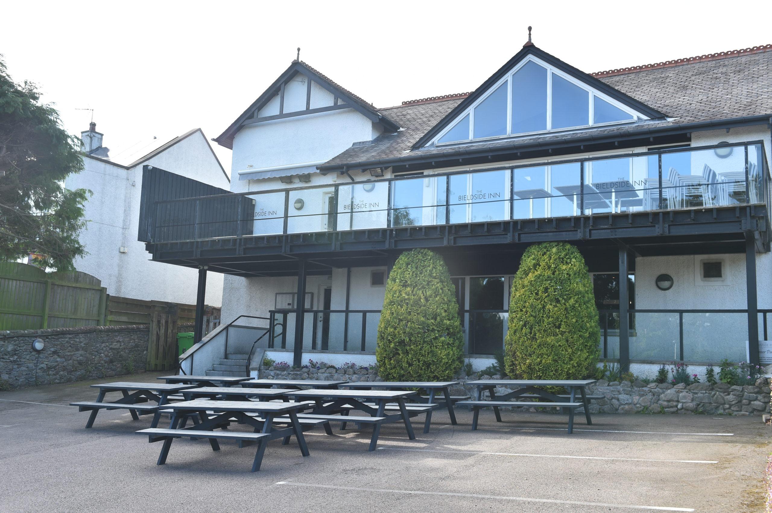The Bieldside Inn was ready to open its beer garden