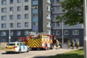 Emergency services could be seen outside Northsea Court after a fire broke out in one of the properties.
