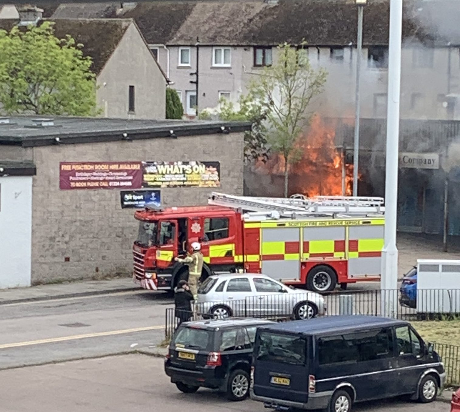 Firefighters at the scene. Picture by Stephen Webster