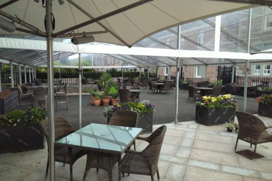 The Chester Hotel seating area.