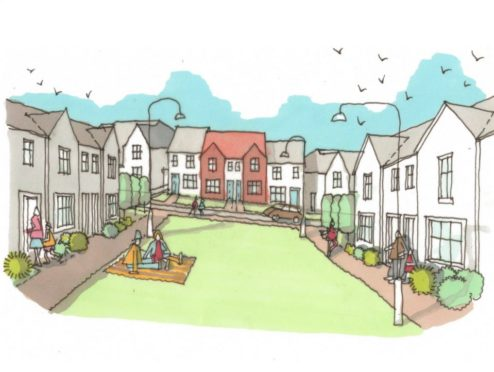 An indicative sketch of the proposed development in Cove