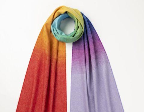 The rainbow scarf