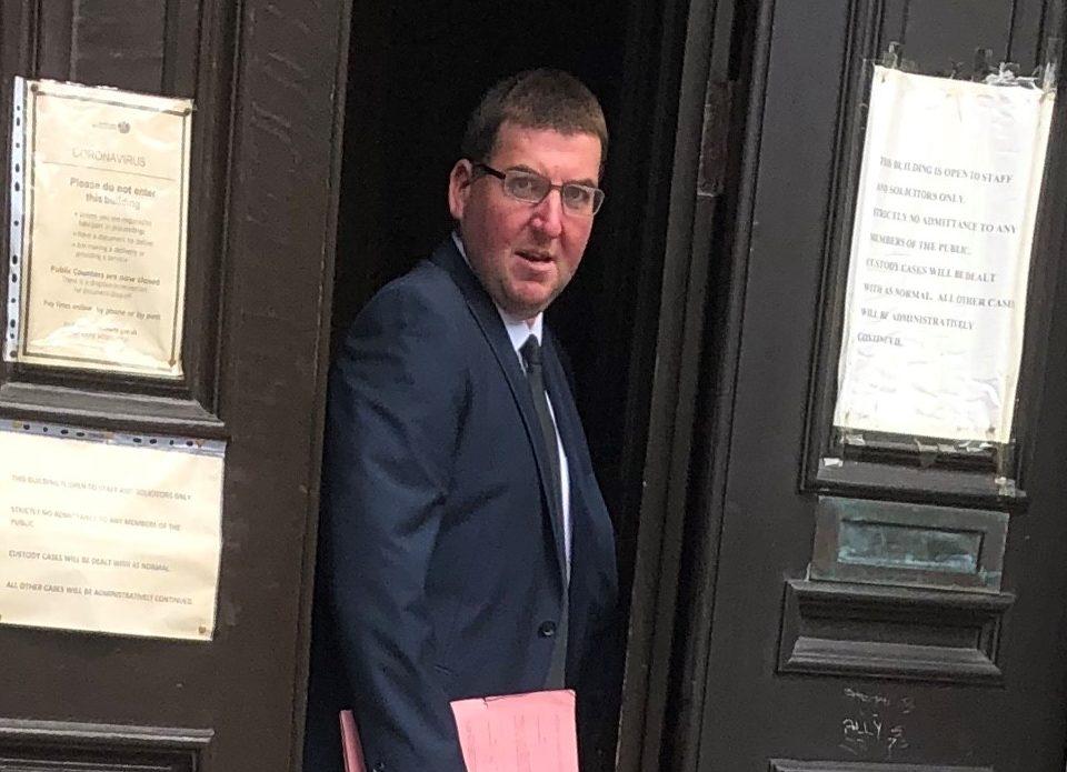 Mitchell Lyon leaving court.