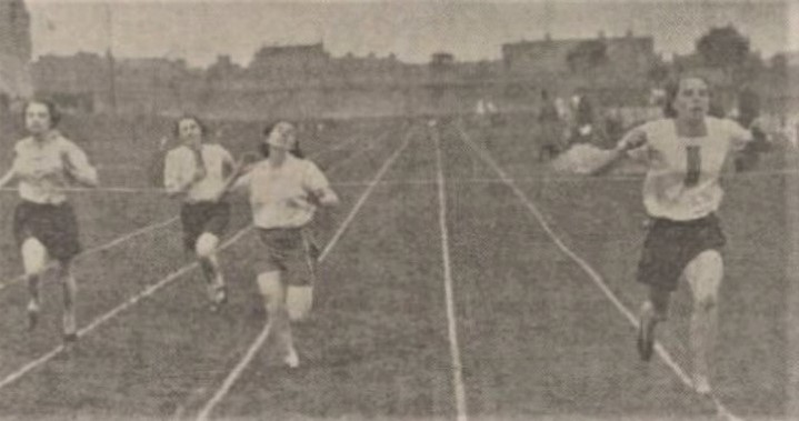 May Ross Mackenzie, right, was a trailblazer for women's sprinting in the north-east of Scotland.