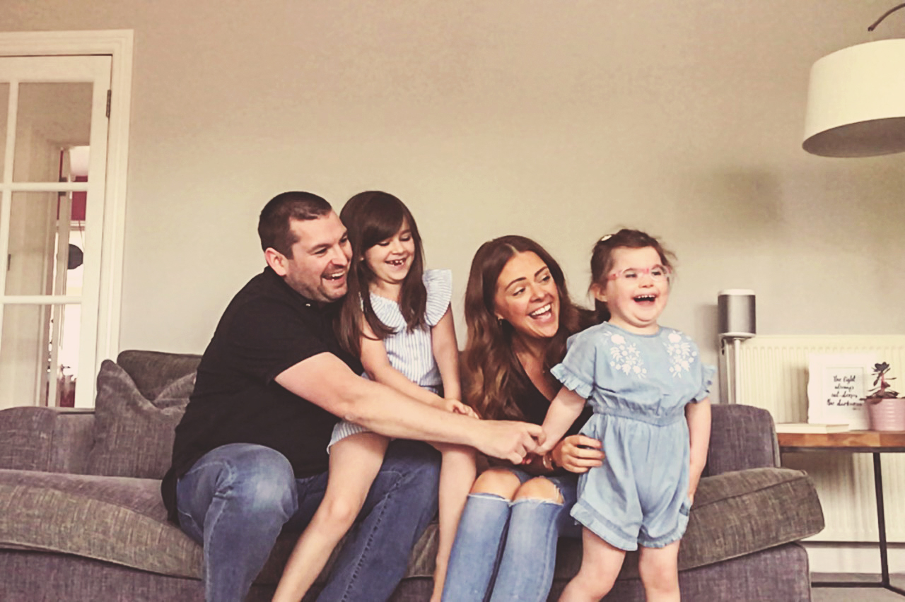 The McShane family, one of a number of Charlie House families who took part in a FaceTime photo shoot with photographer Susan Renee