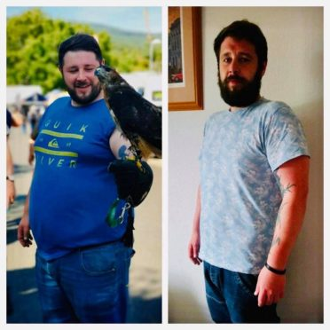 Michael Gray has lost almost six stone