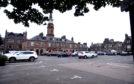 The Market Square car park in Stonehaven