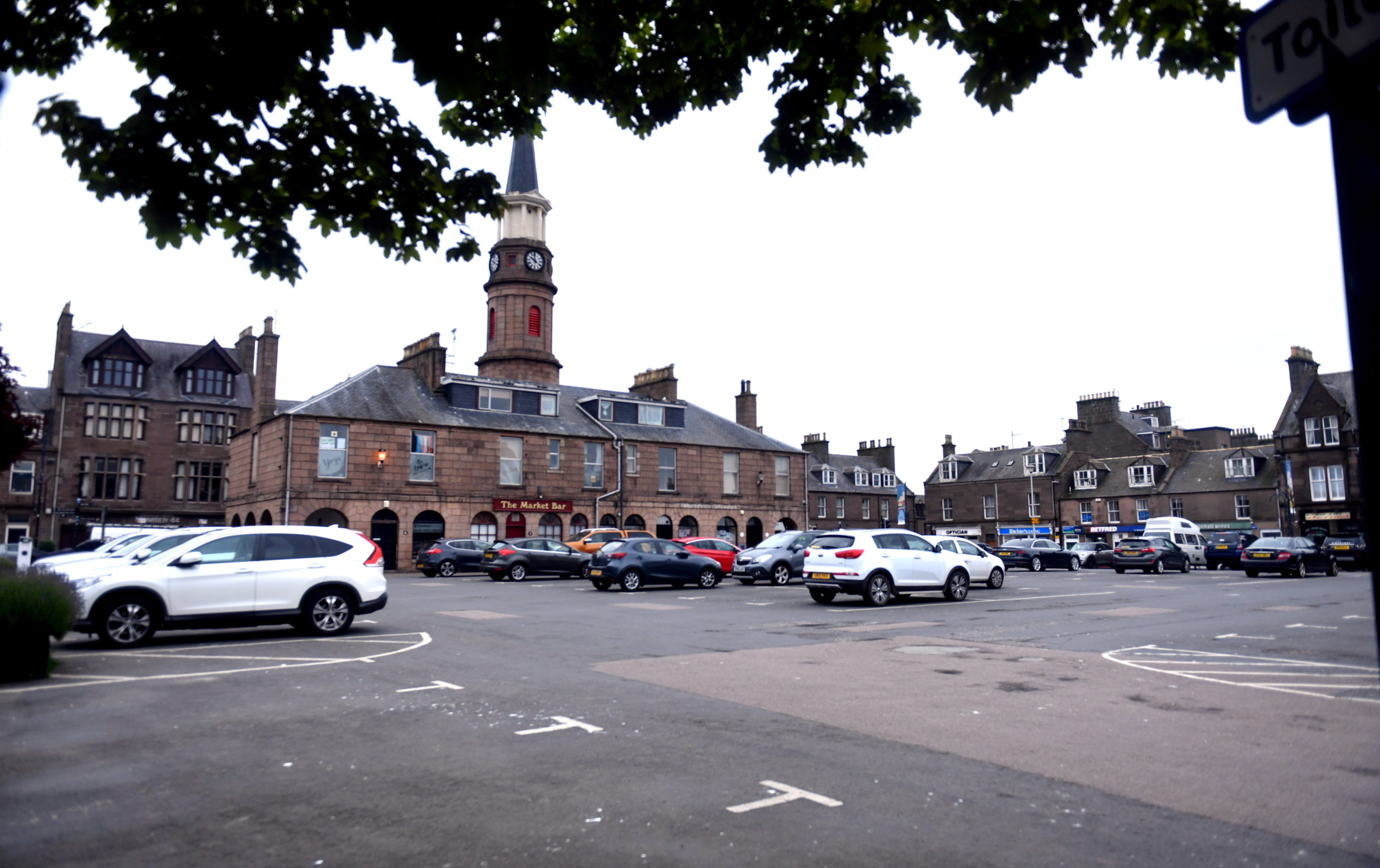 The Market Square car park in Stonehaven