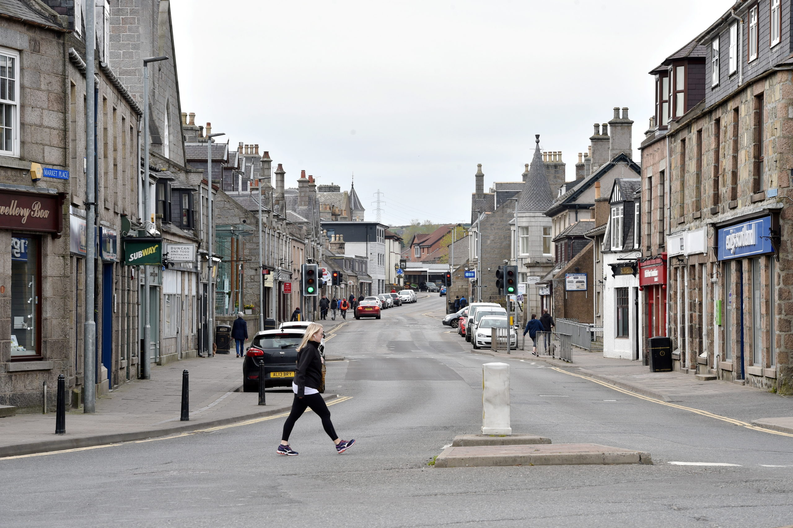 Retailers hope shoppers will soon start returning to places like the High Street in Inverurie. Picture by Darrell Benns