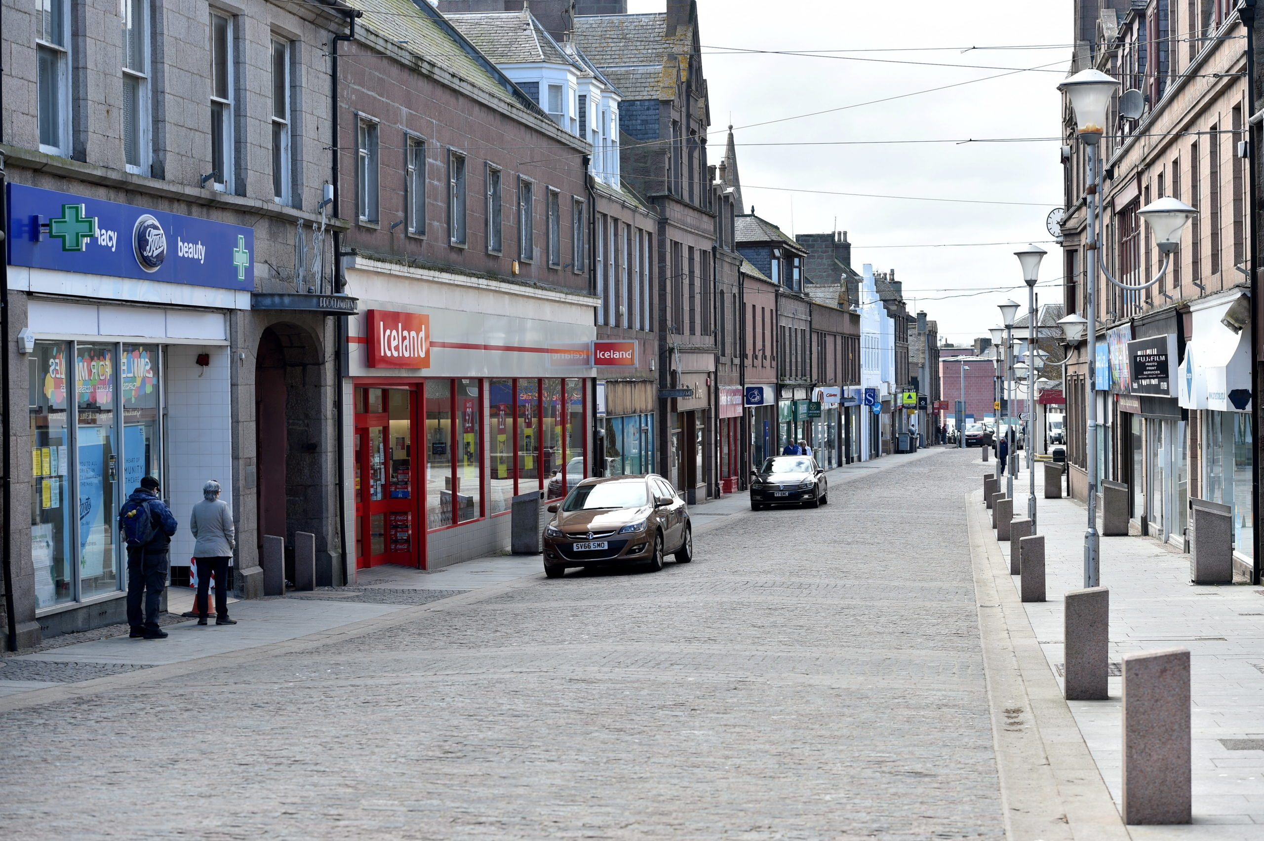Shops in Peterhead town centre. Picture by Darrell Benns