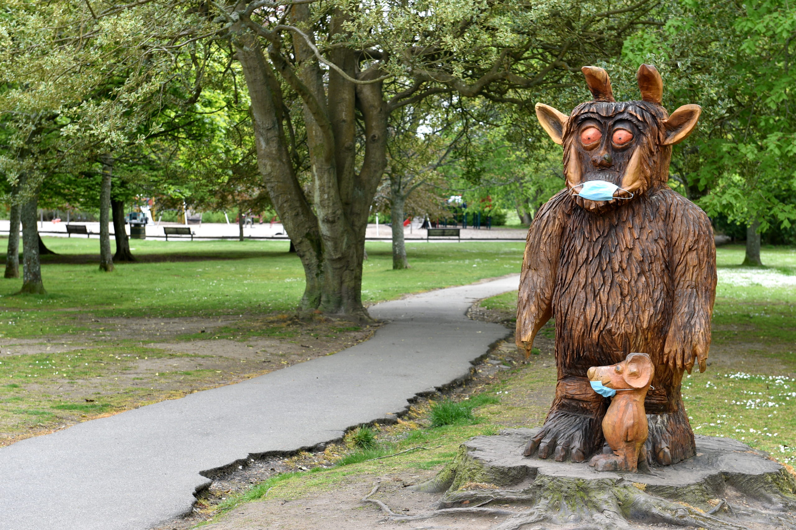 Gruffalo statue in Hazlehead Park, Aberdeen. Picture by DARRELL BENNS
