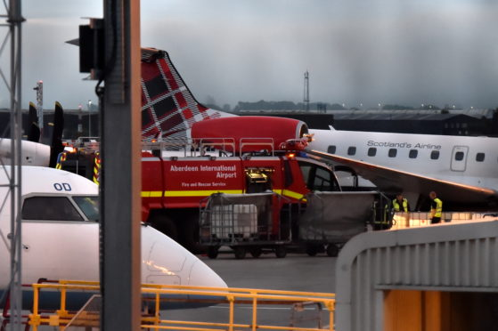 The incident happened at Aberdeen Airport this afternoon