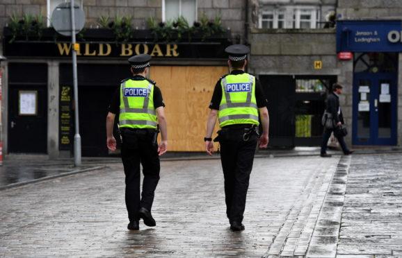 Officers on patrol during lockdown