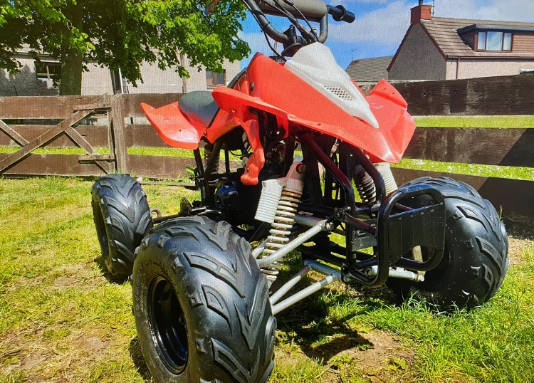 A quad bike has been recovered
