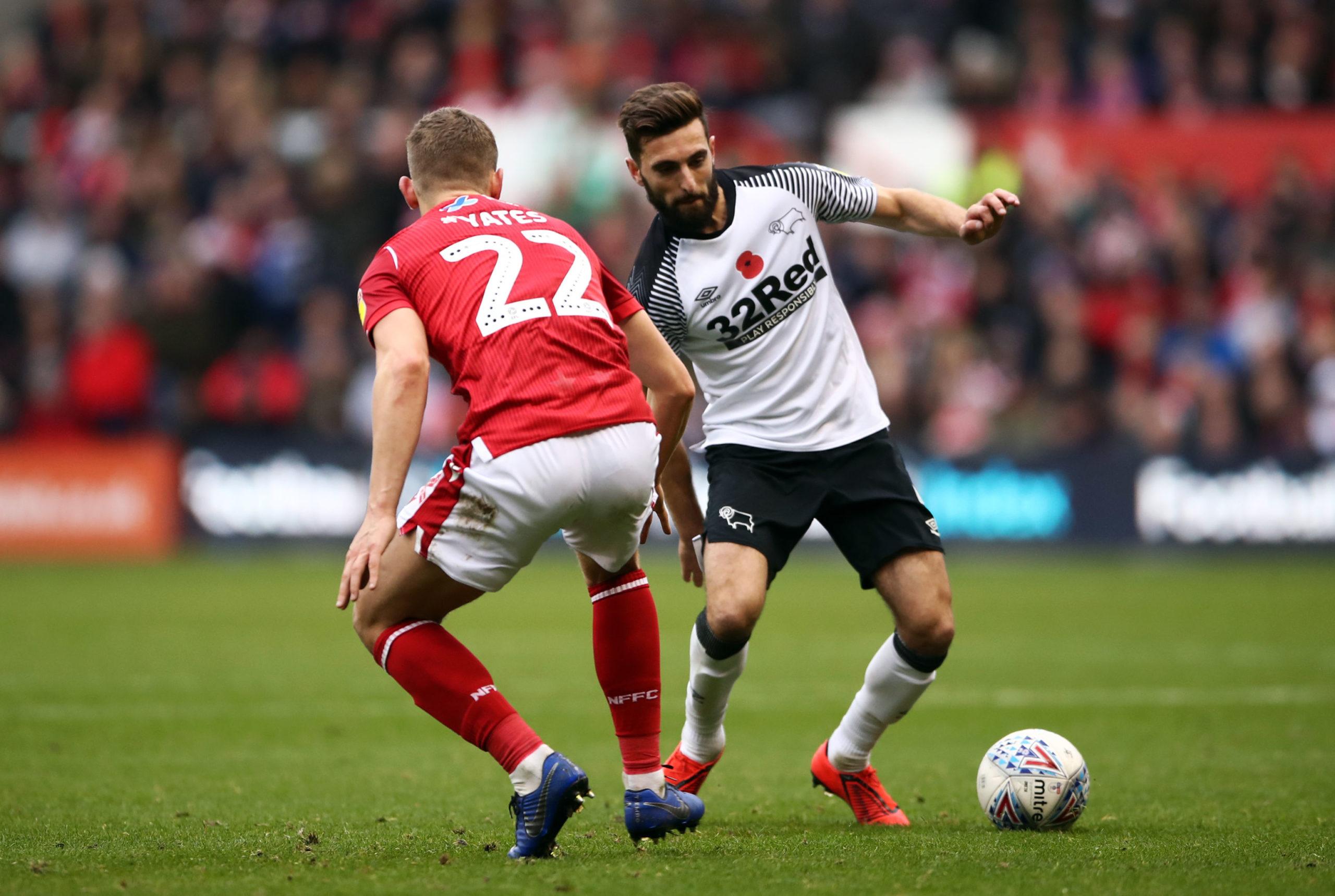 Derby County's Graeme Shinnie was the Dons' organiser during his spell at Pittodrie.