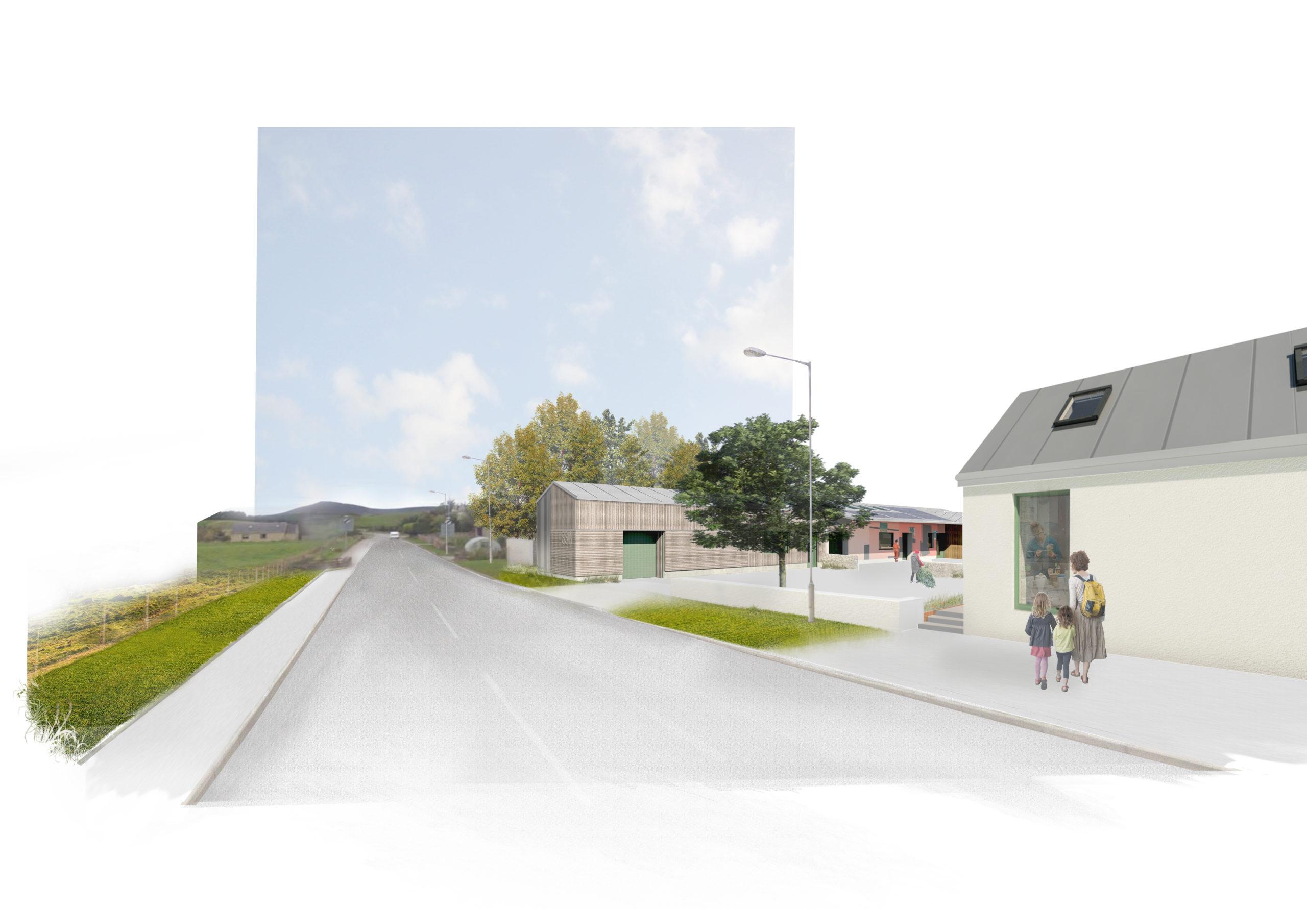 An artist's impression of the proposed Scottish Sculpture Workshop redevelopment