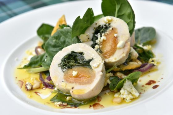 Chicken with spinach and apricot by The Kilted Chef from Eat On The Green