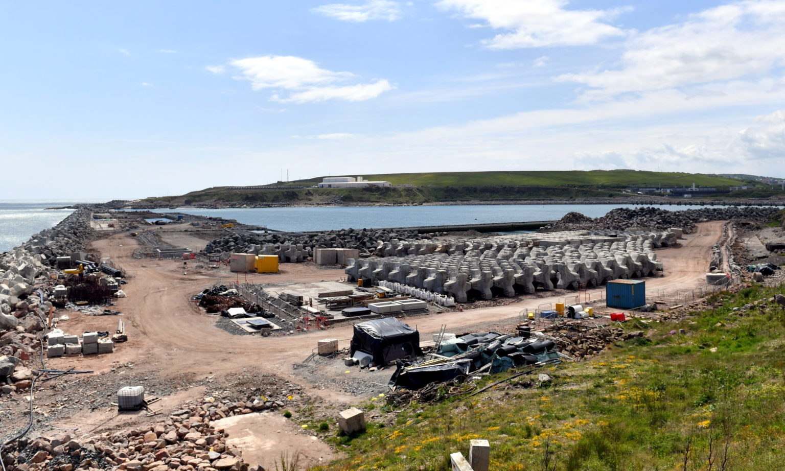 The Aberdeen South harbour development at Bay of Nigg.