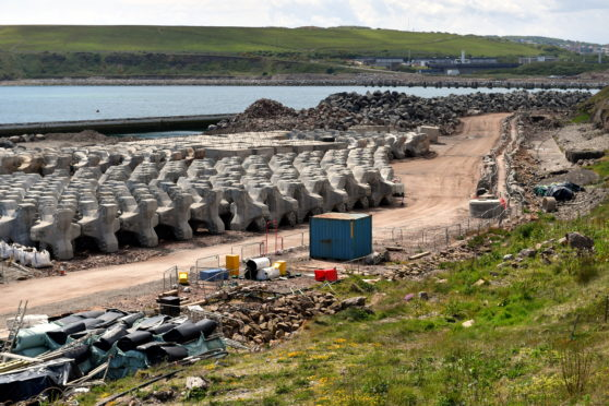 A business leader says Dragados pulling out of Aberdeen's harbour expansion presents an opportunity to a local firm.