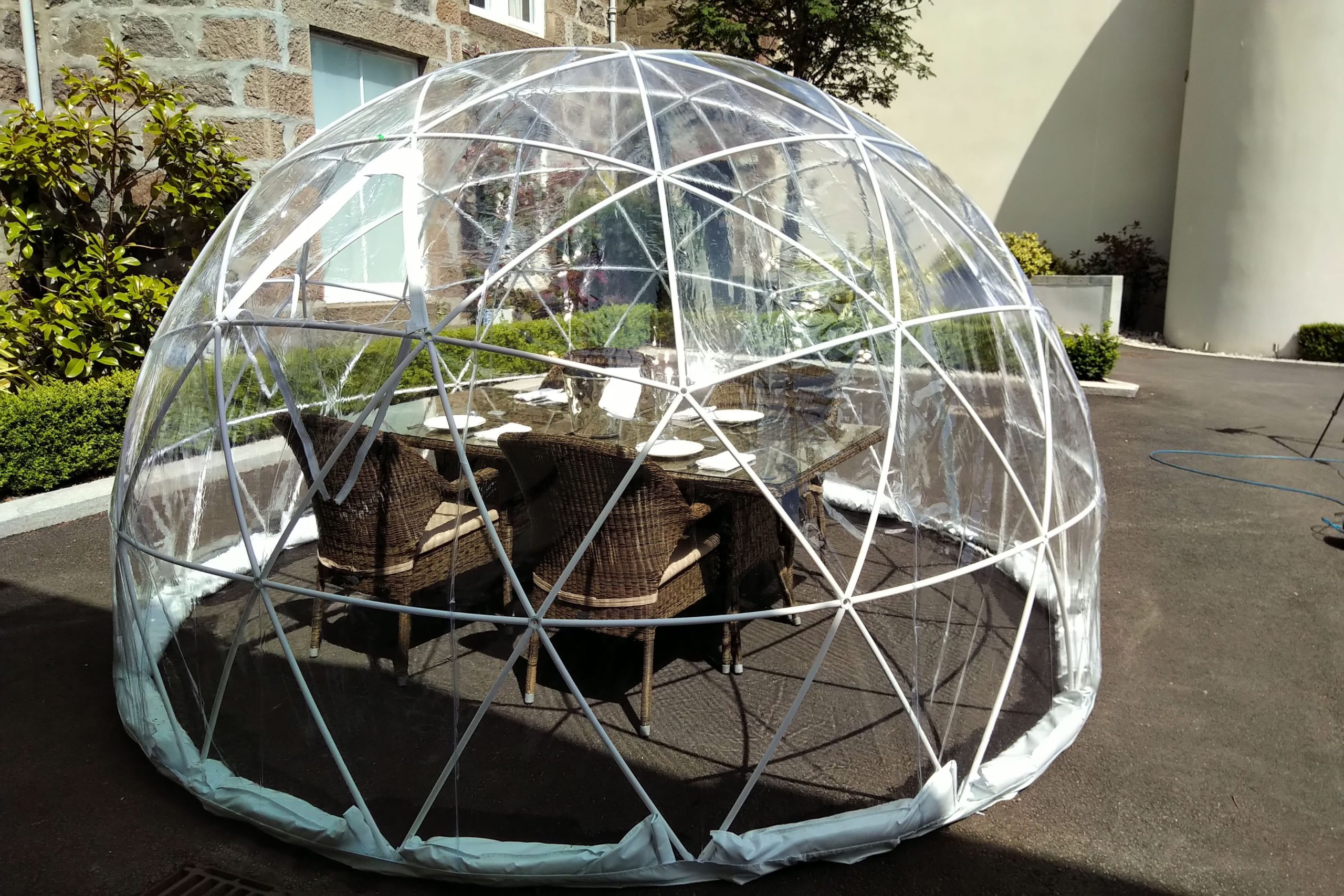One of the igloos installed by the Chester Hotel.