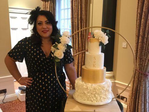 Self-employed wedding cake designer Joanna Mennie