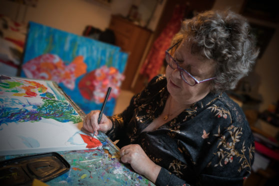 Alison Chandler, one of the artists taking part in Friends of Charlie House's art fair
