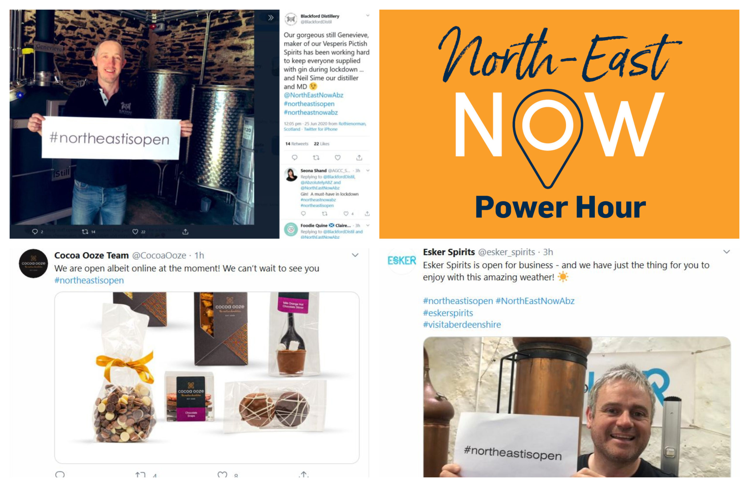 The power hour was arranged as part of the North-East Now campaign, which aims to shine a light on local businesses.