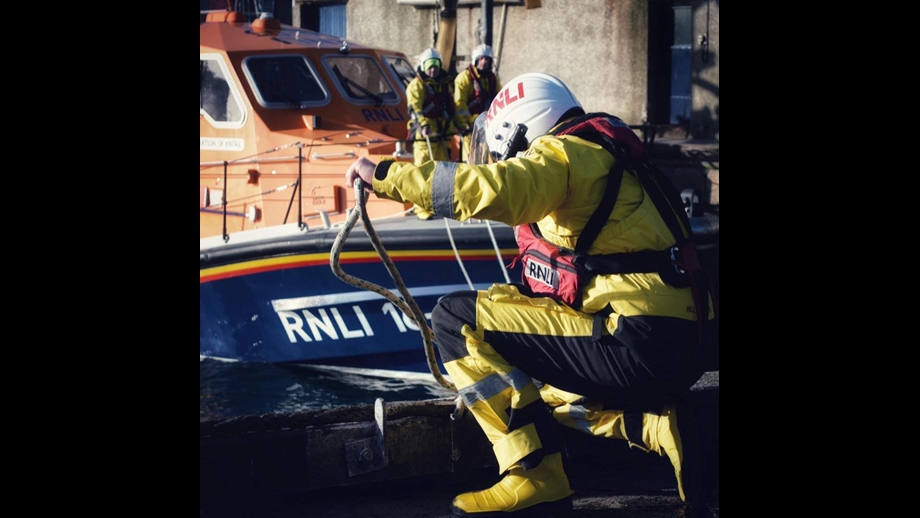 The Peterhead lifeboat launched yesterday