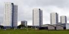 The four Seaton high rises, Seaton, Aberdeen.